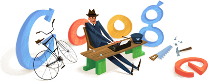 Google Logo: Flann O'Brien's 101st Birthday - Irish novelist