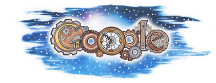 Google Logo: Winning Ireland Doodle 4 Google 'Turning Back Time' - Drawn by Patrick Horan from Co. Limerick