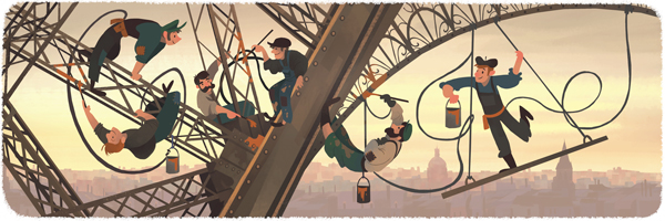 126th Anniversary of the public opening of the Eiffel Tower