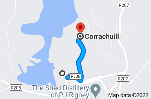Map to Lough Allen Hotel, Corrachuill, Drumshanbo, Co. Leitrim